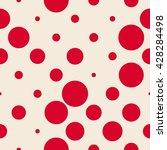 classic polka dot pattern.... | Shutterstock .eps vector #428284498