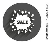 sale icon. cracked hole symbol. ...