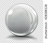 big gray glass sphere with... | Shutterstock .eps vector #428288128