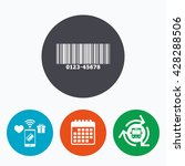 bar code sign icon. scan code... | Shutterstock . vector #428288506