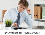 portrait of bookkeeper or... | Shutterstock . vector #428289214