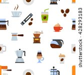 colored seamless texture coffee ... | Shutterstock .eps vector #428293183