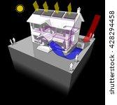 3d illustration of heat pump