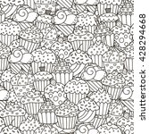 black and white cupcakes... | Shutterstock .eps vector #428294668