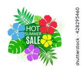 bouquet of exotic hawaiian...   Shutterstock .eps vector #428295460