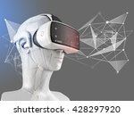 unusual virtual reality headset ... | Shutterstock . vector #428297920