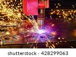 cnc laser cutting of metal ...   Shutterstock . vector #428299063