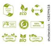 labels  eco products  logo | Shutterstock . vector #428299618