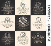 set leaflets ornamental logos | Shutterstock . vector #428300266