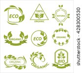 organic products  eco labels ... | Shutterstock . vector #428300530