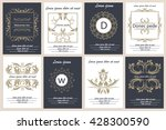 set flyers templates with... | Shutterstock . vector #428300590