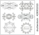 set logos elegant ornament... | Shutterstock . vector #428301010