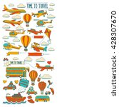 vector doodle set of travel and ... | Shutterstock .eps vector #428307670