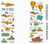 vector doodle set of travel and ... | Shutterstock .eps vector #428308363