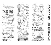 Vector Doodle Set Of Travel An...