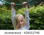 Portrait Of Happy Little Girl...
