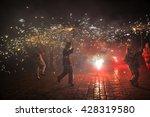 traditional catalan performance ... | Shutterstock . vector #428319580