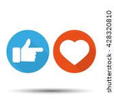 thumbs up  and heart | Shutterstock .eps vector #428320810