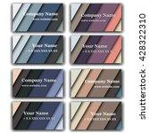 set of business card print... | Shutterstock .eps vector #428322310