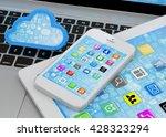 laptop  tablet pc  smart phone...   Shutterstock . vector #428323294