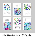 set of creative universal... | Shutterstock .eps vector #428324344