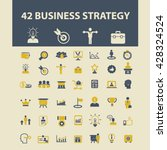 business strategy icons  | Shutterstock .eps vector #428324524