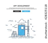 app development. construction... | Shutterstock .eps vector #428325118
