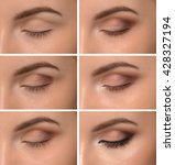step by step make up eyes  | Shutterstock . vector #428327194