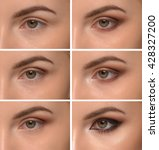 step by step make up eyes  | Shutterstock . vector #428327200
