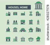 houses  home icons  | Shutterstock .eps vector #428327578