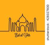 eid mubarak design line concept ... | Shutterstock .eps vector #428327830