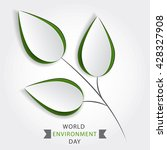 eco friendly concept with green ... | Shutterstock .eps vector #428327908