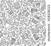 cartoon hand drawn coffee  tea...   Shutterstock .eps vector #428328223