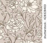 floral seamless pattern. flower ... | Shutterstock .eps vector #428328403