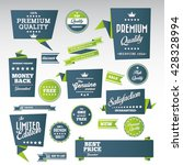vintage labels set   origami... | Shutterstock .eps vector #428328994
