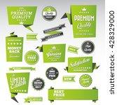 vintage labels set   origami...   Shutterstock .eps vector #428329000