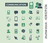 communication icons  | Shutterstock .eps vector #428329156