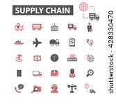 supply chain icons  | Shutterstock .eps vector #428330470