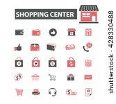 shopping center icons  | Shutterstock .eps vector #428330488