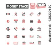 money stack icons  | Shutterstock .eps vector #428330680