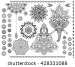 mandala set and other elements. ... | Shutterstock .eps vector #428331088