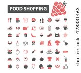 food shopping icons    Shutterstock .eps vector #428331463