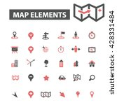 map elements icons  | Shutterstock .eps vector #428331484