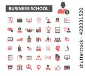 business school icons  | Shutterstock .eps vector #428331520