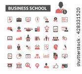 business school icons  | Shutterstock .eps vector #428331520