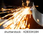 drill with diamond tipped... | Shutterstock . vector #428334184