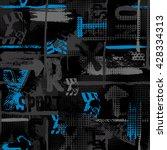 abstract seamless grunge... | Shutterstock .eps vector #428334313