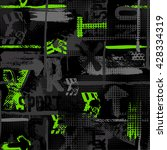 abstract seamless grunge... | Shutterstock .eps vector #428334319
