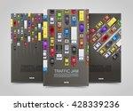 modern transport vertical... | Shutterstock .eps vector #428339236