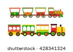cartoon toy train with colorful ... | Shutterstock .eps vector #428341324
